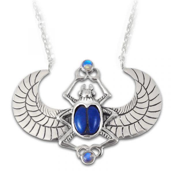 Isis-Urania Lapis Lazuli & Moonstone Ritual Lamen Amulet