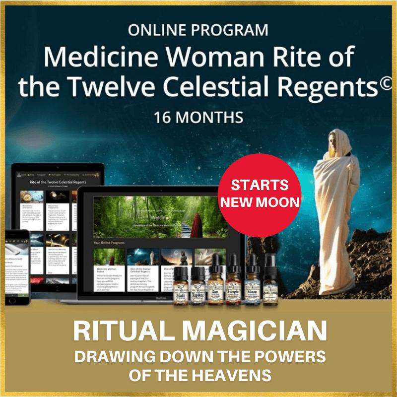 New Moon - Medicine Woman Rite of the Twelve Celestial Regents© Online Program